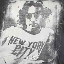 John Lennon Shirt Vintage tshirt 1980s NYC Mosquitohead Bleach Print Beatles