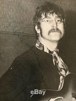 John Lennon Signature Autograph Beatles Monthly Book Becket/Tracks Authenticity