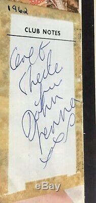 John Lennon Signed Autograpgh Beatles 1962 Cavern Club Tracks Coa