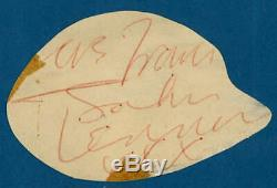 John Lennon Signed Autographed 3x4 Beatles Album Page Beckett BAS
