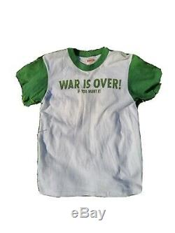 John Lennon T SM Vtg Beatles 70s War Is Over Yoko Plastic Ono Band Shirt Rare