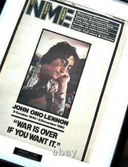 John Lennon The Beatles Luxury Framed Original NME-Certificate VERY RARE