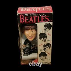 John Lennon The Beatles Remco Doll Soft Body Real Hair Guitar Boxed 1964 READ