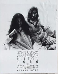 John Lennon & Yoko OnoAMSTERDAM Hilton 1969 Bed-in20x24 Peace Poster Beatles