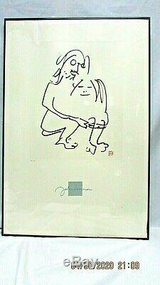John Lennon Yoko Ono 1988 Framed/Signed Lithograph. The Hug #4229 of 5000