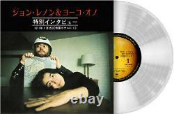 John Lennon & Yoko Ono Special Interview Part1 and 2 1971 Beatles Clear Vinyl