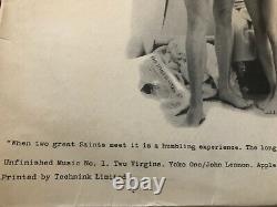 John Lennon & Yoko Ono/Two Virgins/1968 Apple LP/Beatles Original Vinyl