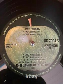 John Lennon and Yoko Ono autographed Two Virgins