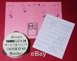 John Lennon original'One To One' Concert 1972 Tambourine + programme, Beatles