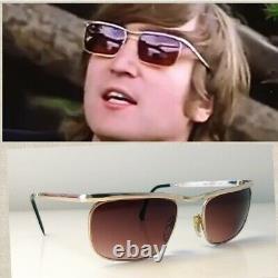 John lennon beatles 1960's VIENNALINE sunglasses gold 12K FRAME Austria