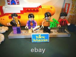 LEGO # 21306 THE BEATLES YELLOW SUBMARINE WithMINIFIGURES BOX & INSTRUCTIONS