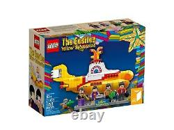 LEGO 21306 The Beatles Yellow Submarines (2016) with Minifigs, Instructions, Box