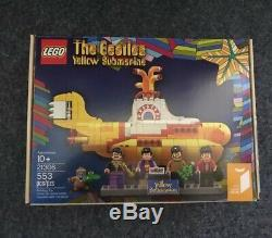 LEGO Ideas Beatles Yellow Submarine 21306 2016 4 Mini Figure Paul Ringo Lennon
