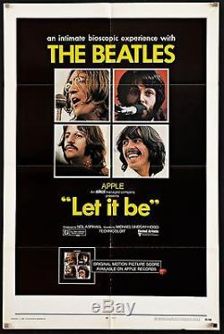 LET IT BE 1970 U. S 1 Sheet The Beatles Paul McCartney John Lennon filmartgallery