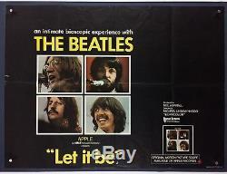 LET IT BE Original Movie Poster (Fine) British Quad 1970 Beatles John Lennon