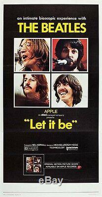 LET IT BE THE BEATLES JOHN LENNON PAUL McCARTNEY 1970 3-SHEET NM