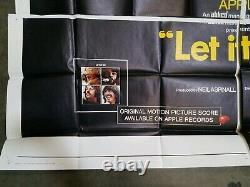 LET IT BE The Beatles 80x73 Folded Six Sheet Movie Poster 1970 John Lennon