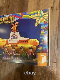 Lego IDEAS The Beatles Yellow Submarine 21306 FACTORY SEALED AND RETIRED