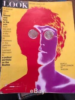 Look Magazine January 9, 1968 Beatle John Lennon by Avedon