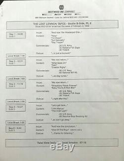 Lost Lennon Tapes lot of 22 lps John Lennon/Beatles Westwood Radio'91/2