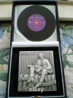Make offer-John Lennon sterling silver tribute medal- only 200 were made