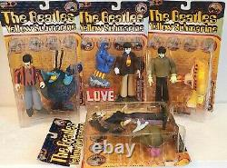 McFarlane Toys THE BEATLES YELLOW SUBMARINE Figures Full Set of 4 NIB (1999)