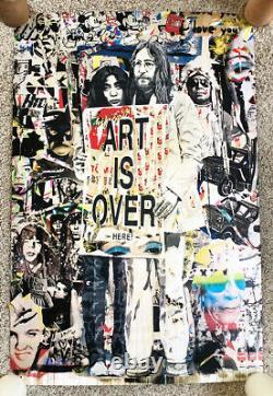 Mr Brainwash Art is Over Here John Lennon Yoko Ono Beatles Poster Litho Signed