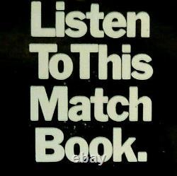 Near Mint Beatles John Lennon 1974 Ultra Mega Rare'listen To This Matchbook