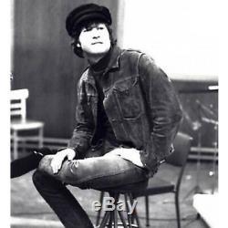 New Men's John Lennon Beatles Rocker Brown Vintage Suede Leather Jacket