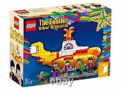 New Sealed Retired LEGO 21306 THE BEATLES YELLOW SUBMARINE SET 553 PCS