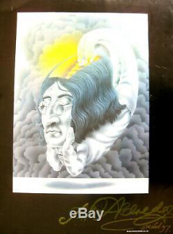 ONE OF A KIND ALAN ALDRIDGE JOHN LENNON FLOATING SIGNED LP ALBUM 5th of Nov