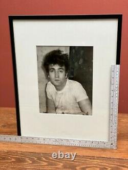 Original 9x11John Lennon photograph by Dezo Hoffmann, ca. 1965, framed