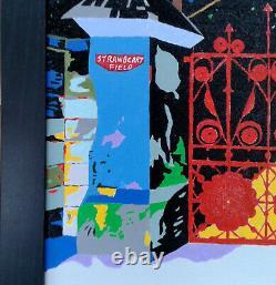 Original Art Liverpool Beatles Strawberry Field Framed John Lennon Sgt Pepper