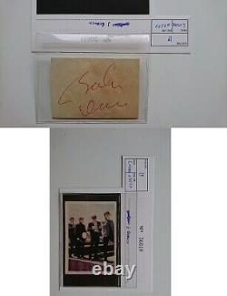 Original John Lennon Autograph Dorchester Hotel London Obtained 4/23/1964
