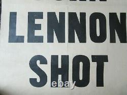 Original John Lennon Shot Dead New Standard UK Poster Beatles 9 Dec 1980 40 Yrs