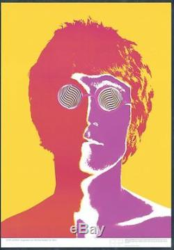 Original Pop Art Poster Of John Lennon By Avedon For Stern 1967/8 Beatles