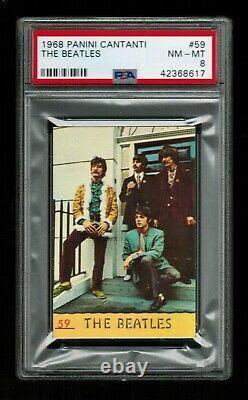 PSA 8 BEATLES 1968 Paul McCartney, John Lennon, George Harrison, Ringo Starr #59