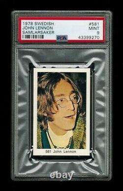 PSA 9 JOHN LENNON The Beatles 1978 Card #581 THE HIGHEST EVER GRADED