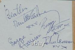 Paul McCartney signed Beatles autographs John Lennon George Harrison Ringo Starr