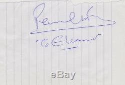 Paul McCartney signed To Eleanor autograph promo Beatles John Lennon Ringo Starr