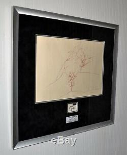 RARE John Lennon BAG ONE Art LITHOGRAPH, Signed YOKO ONO, Museum Frame, COA UACC