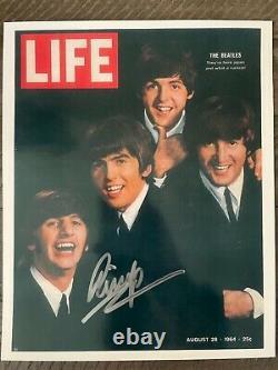 RINGO STARR signed 8x10 JSA COA letter Beatles paul Mccartney John Lennon psa