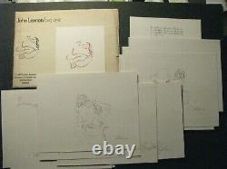 Rare 1970 John Lennon Bag One Portfolio Print Set Amsterdam The Beatles