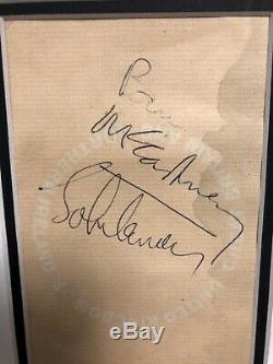 Rare Beatles Paul McCartney John Lennon Signed Passport 1967
