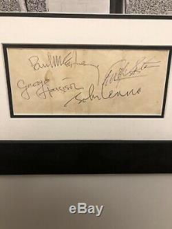 Rare Complete 1964 Beatles Autographs Paul McCartney John Lennon Harrison Starr