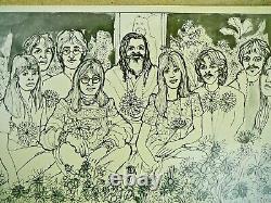 Rare Cynthia Lennon Twist John Paul George Ringo Beatles Maharishi