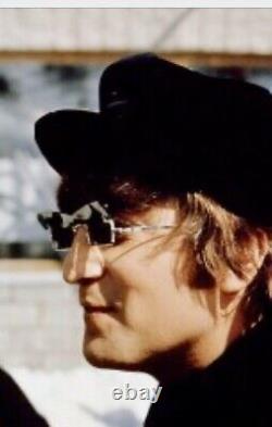 Rare K K Spectacle Green Flip Up Visor Sun Glasses John Lennon Penny Lane & Case