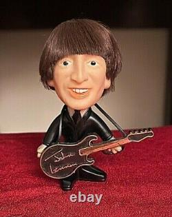 Rare Vintage 1964 Remco Beatles Doll Hard Body John Lennon Doll With Instrument