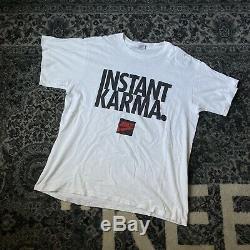 Rare Vintage Nike 90s Instant karma Tee Shirt Frank Ocean John Lennon Beatles