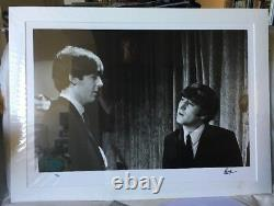 SIGNED Ringo Starr John Lennon McCartney Beatles photo Genesis COA autograph